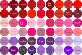 different shades of purple names different shades of red hair color names red hair and brunette
