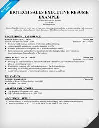Biotech Resume Sample by Sales Resume Templates