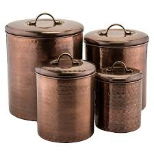 shop amazon com food bins amp canisters old dutch 4 piece hammered antique copper canister set