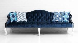 Navy Blue Tufted Sofa Sofa In Brussels Midnight Velvet I Roomservicestore