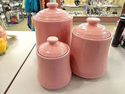 pink kitchen canisters pink kitchen collection on ebay