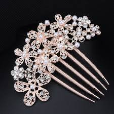 hair comb accessories free shipping fashion flower bridal hair accessories tuck comb
