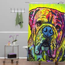 Deny Shower Curtains Amazon Com Deny Designs Dean Russo The Bulldog Shower Curtain 69