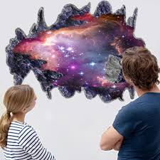 online get cheap space stickers aliexpress com alibaba group removable 3d space galaxy meteorite broken wall decorative wall sticker for kids room living room bedroom home decor wall decals