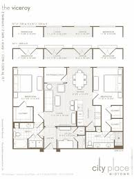 viceroy floor plans 2 bed 2 bath apartment in houston tx city place midtown