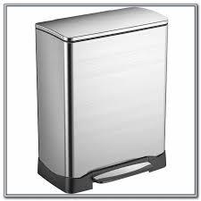 tall kitchen trash can hefty swing lid trash can black 135 gal