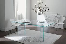 Modern Glass Dining Table Bacco Modern Italian Designer Glass Dining Table By Tonelli