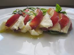 comment cuisiner la mozzarella pêches et mozzarella ou comment cuisiner sophistiqué en moins de