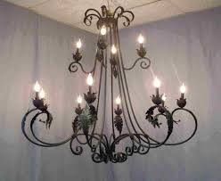French Wooden Chandelier Large Wrought Iron Chandelier Chandelier With Steel Strap And