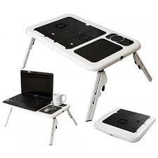 desk e table portable laptop table desk w cooler fan e table ld