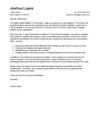 cover letter for resume best satellite tv technician installer cover letter exles