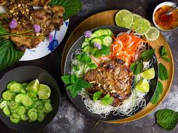 vietnamese grilled pork chops with chilled rice noodles recipe