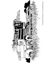 farm equipment coloring pages farm thresher machine coloring