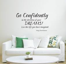 popular direction quotes buy cheap direction quotes lots from go confidently in the direction of your dream wall art sticker quote decoration wall decals 3