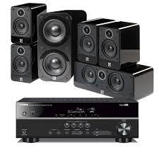 yamaha home theater system yamaha rx v381 u0026 q acoustics 5 1 home cinema surround sound