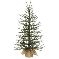 2 5ft pine artificial tree with clear lights in
