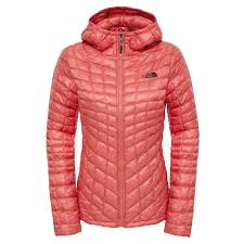 the north face thermoball women s outdoor jacket coral