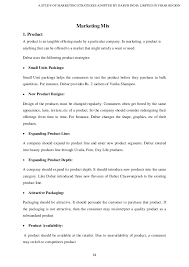 Resume Profile Section Marketing Strategies Of Dabur India Limited In Virar Region