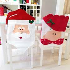 santa chair covers 2pcs santa claus chair covers for christmas table decorations