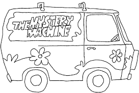 Doo Coloring Pages Mystery Machine Mystery Coloring Pages