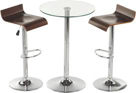 this glass high top table and chairs is modern furniture for