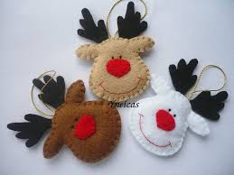 rudolph the nosed reindeer felt ornament handmade