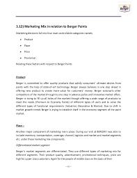 expansion of the market of berger paints through alternative distribu u2026
