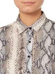 snake print blouse lyst salsa magdalena snakeskin print blouse