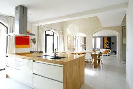 cuisine blanc laqué et bois cuisine blanc laque et bois cuisine blanche laquee et bois