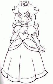 princess daisy coloring kids coloring