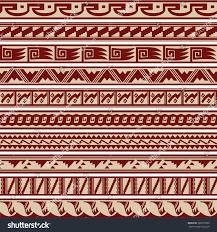 southwestern designs set southwestern tribal border pattern designs stock vector