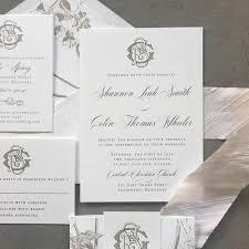 monogram wedding invitations monogram wedding invitation cardinal and straw