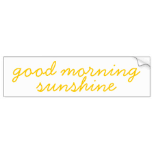good morning bumper stickers car stickers zazzle