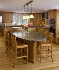 eat in kitchen island designs sleek black marble countertop along
