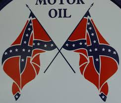 Cool Rebel Flags Dixie Motor Oil Round Tin Sign Garage Gasoline Rebel Flag Southern