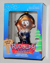 for sale hermey crafted glass ornament rudolph the island