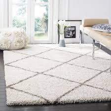 safavieh hudson diamond shag ivory grey rug 8 u0027 x 10 u0027 free