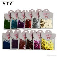 wholesale 3d glitter nail art powder decorations rhombus paillette
