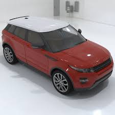 land rover burgundy 3d model range rover evoque cgtrader