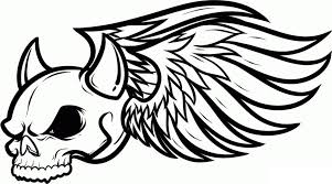 graffiti coloring pages winged skull coloringstar