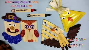 6 amazing popsicle stick funny kid craft diy ice cream stick