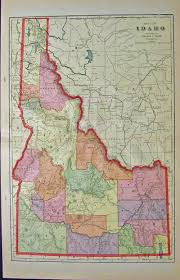 Map Of Idaho State by Prints Old U0026 Rare Idaho Page