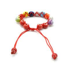 lucky bead bracelet images Handmade cute ceramic lucky cat charm fortune beaded men bracelet jpg