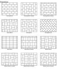 Types Of Pavers For Patio Notice Two Types Of Herringbone One Regular Herringbone And One 45