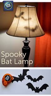 make a bat lamp halloween decoration for your home with paper bats