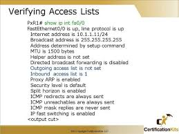 Sho Acl sho acl nescot catc1 access lists ccna 2 v3 module ppt overview