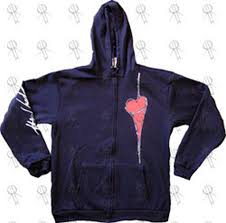 used the black u0027heart u0027 design zip up hoodie clothing hoodies
