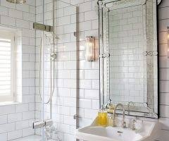 blooming restoration hardware bathroom mirrors with wood trim