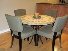 dining room tile small dining room decoration using round cream granite tile top
