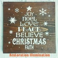 wood tree wall decor shenra com christmas word tree sign joy noel love peace believe faith wall